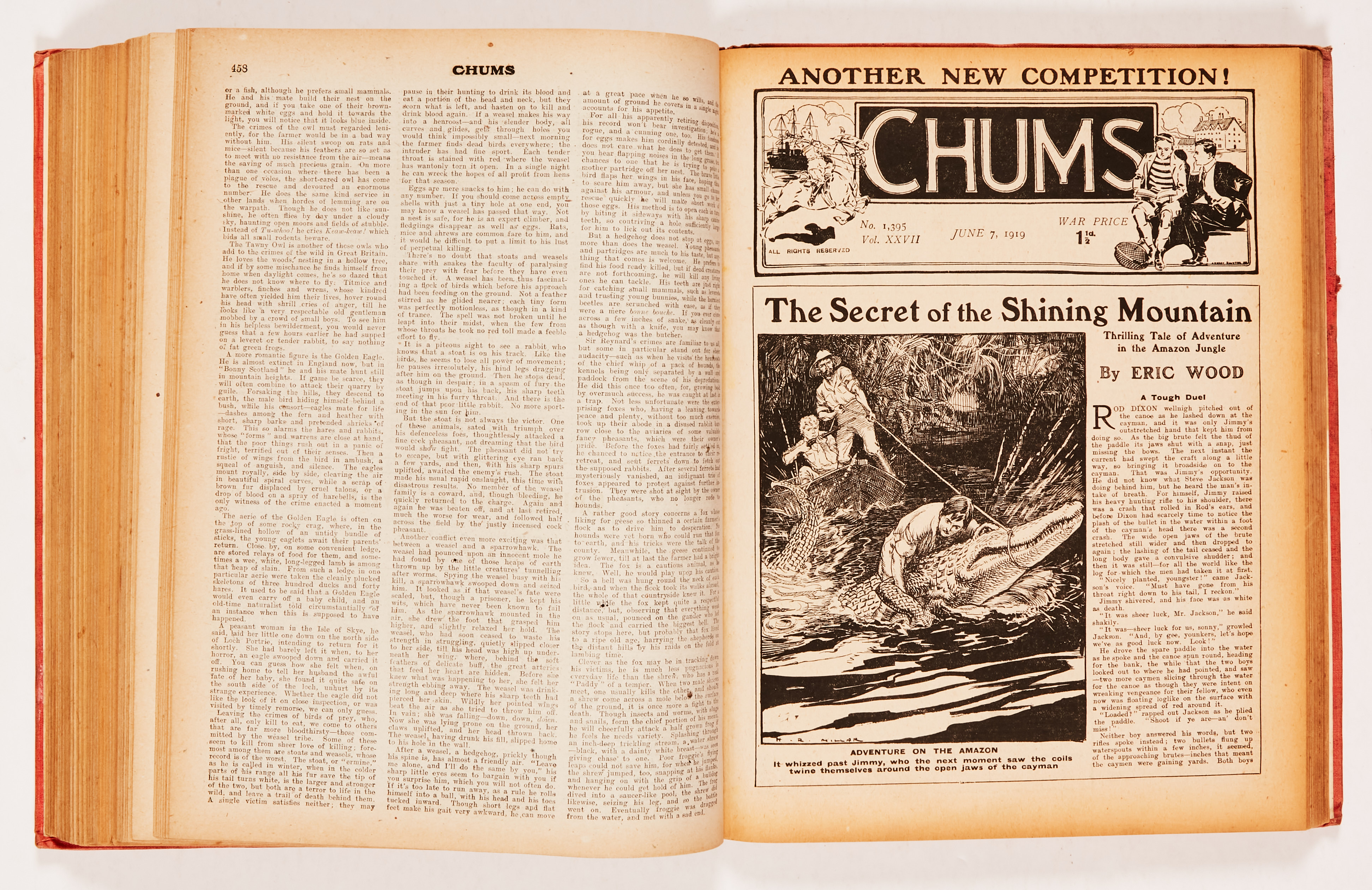 Chums (1918-19) 1357-1409. Propaganda WWI issues. Starring Jack Overton - Flying Detective, - Image 5 of 5