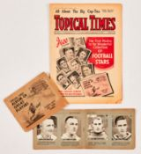 Topical Times No 999 (1939) wfg Album of Great Football Players complete with 22 inserts including