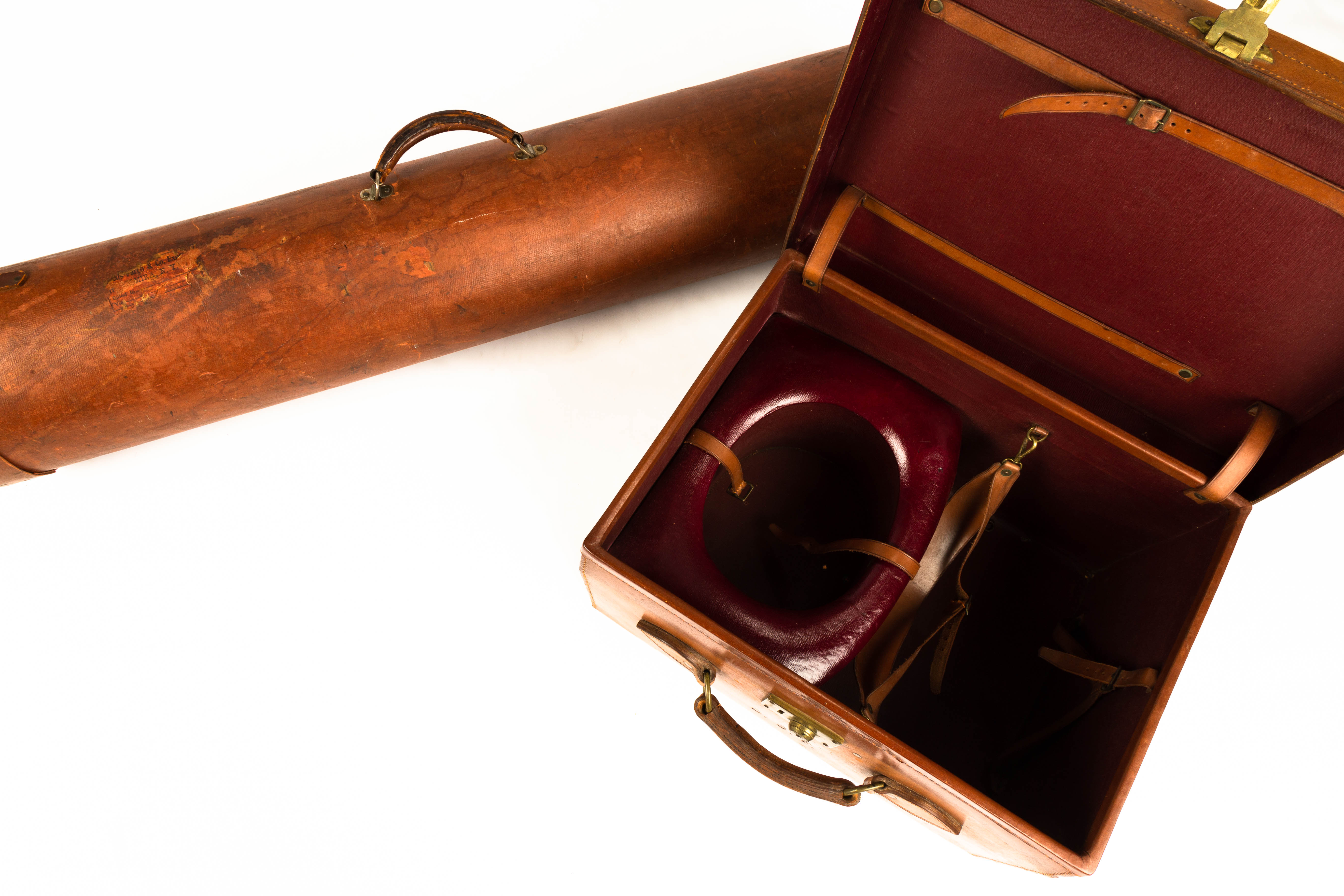 Lot 118 - Map Case and Top Hat Case