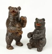 Two Black Forest Carvings of Bears