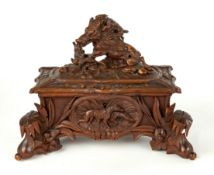 Carved Black Forest Hinged Covered Box