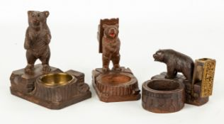 Three Carved Black Forest Smoking Items