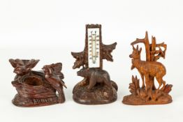 Three Carved Black Forest Items