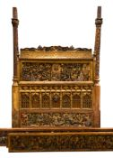 An Unusual French Tester Bed, attributed to Lesage, Paris