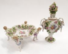 Thuringa cherub compote a/f and cherub two handed vase.