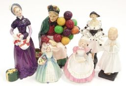 Royal Doulton lady figure good day sir HN 2896 together with 5 other Doulton figurines to include