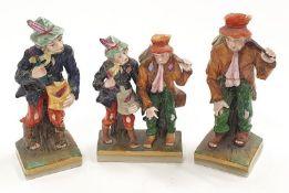 Three Royal Vienna figures of vagabonds.