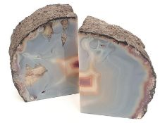 A pair of flat sided crystals.