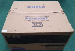 Yamaha RX-V2067 AV receiver boxed and complete with remote controls and leads (WP35).