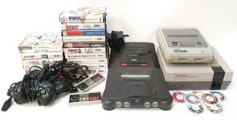 Nintendo and Sega vintage gaming consoles and games to include Nintendo Entertainment System,