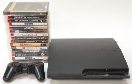 Sony PlayStation 3 Slim CECH-2503B with controller and 15 games (REF WP13).