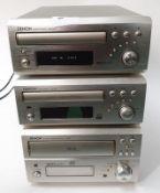 Denon Mini Hi-Fi seperates to include: Cassette Deck DRR-M30, CD Recorder CDR-M30 and CD Auto