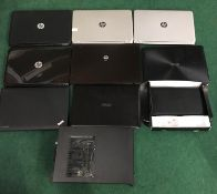 8 Laptops, Acer PC and a notebook (REF WP 395).