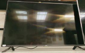 "LG 50"" LED Television model no: 50LF580V (WP40)."