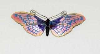 Silver Enamel Butterfly Brooch. (L16)