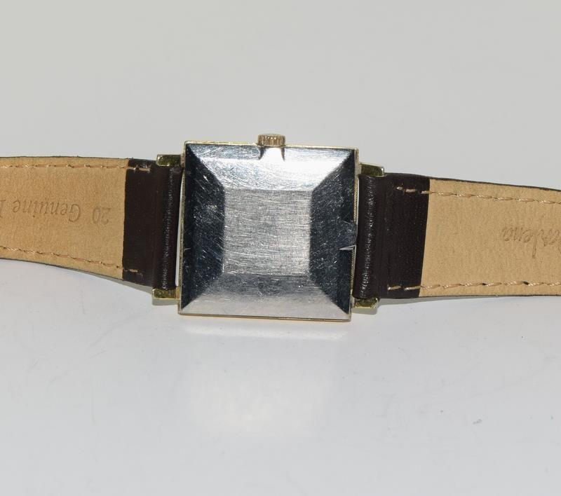 Omega Gold front gents manual wind wrist watch. - Image 6 of 8