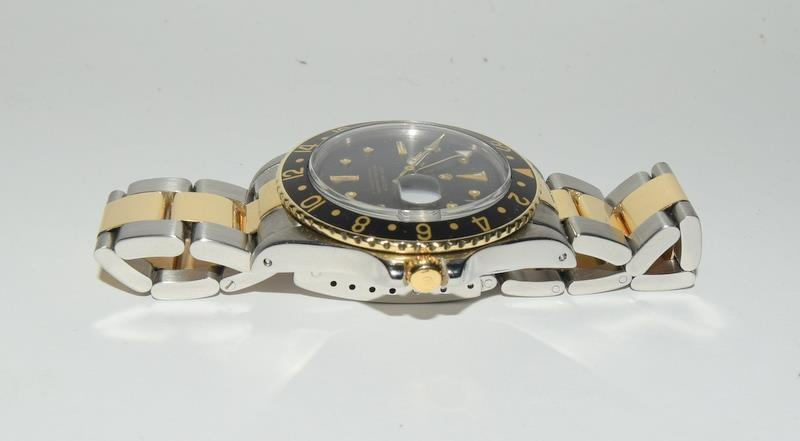 Rolex Bi Metal GMT Master Wristwatch, Dial. Serial No.8781026. - Image 8 of 16