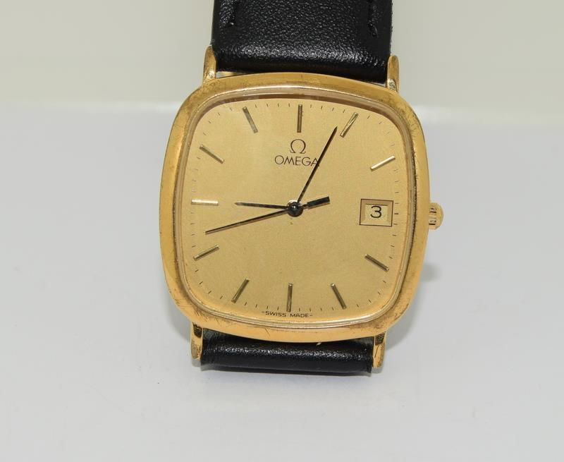 Omega Deville Gold plated gents wristwatch - working. - Image 7 of 8