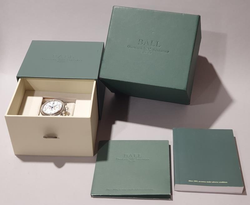 Gentleman's Automatic Chronograph Watch by Ball with box and papers.