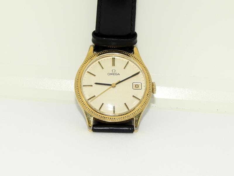 Gold Plated Vintage Omega Manual Wind Wristwatch.