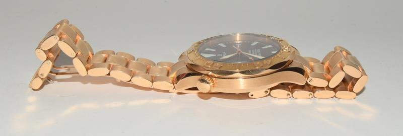 Rose Gold Omega Seamaster Wristwatch 300, Reference No. 2136500, boxed and papers. - Image 7 of 12