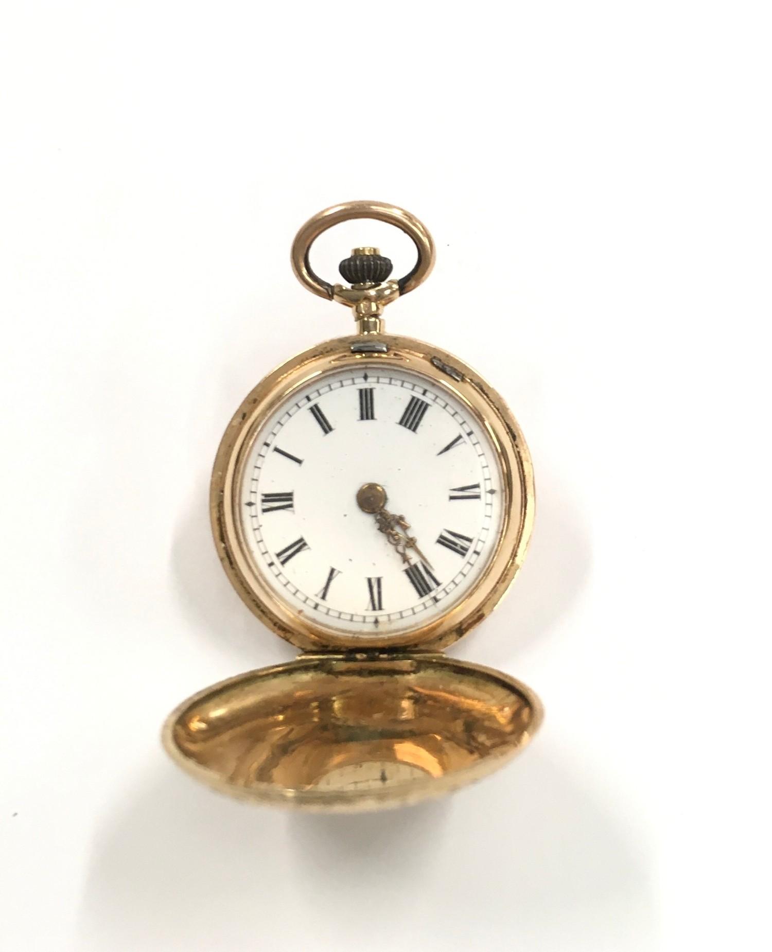 14ct Gold ladies Full Hunter pocket watch. - Image 6 of 6