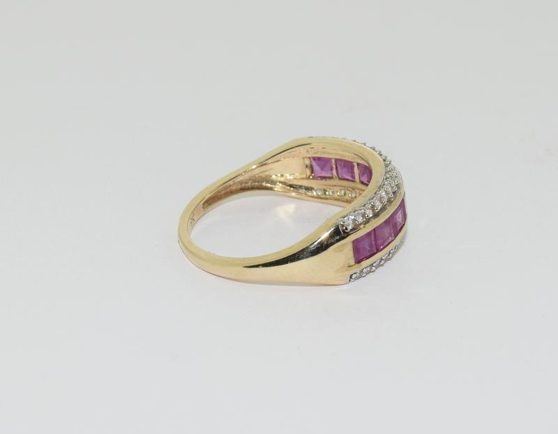 A 9ct gold Burmese ruby Cambodian ring with certificate, size P - Image 3 of 7