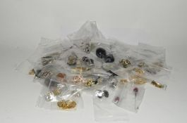 70 pairs of Vintage clip and pierced earrings.
