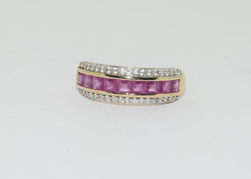 A 9ct gold Burmese ruby Cambodian ring with certificate, size P - Image 7 of 7