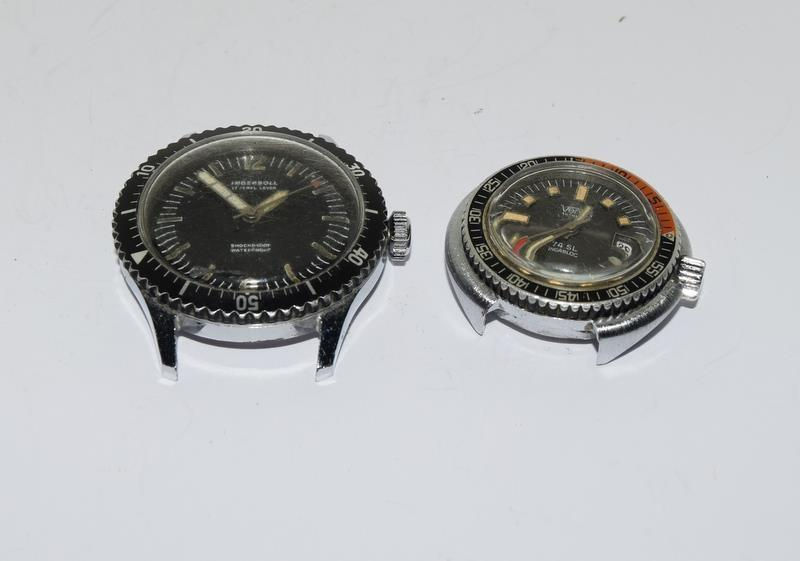 Three vintage divers watches running Ingersoll Timex and Venus - Image 9 of 12