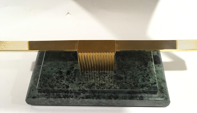 Genuine Rolex onyx based vanity mirror. 38cm tall, 27cm wide - Image 3 of 4