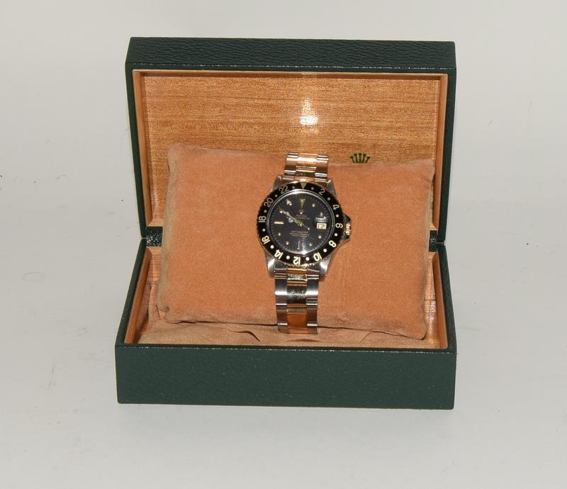Rolex Bi Metal GMT Master Wristwatch, Dial. Serial No.8781026. - Image 16 of 16
