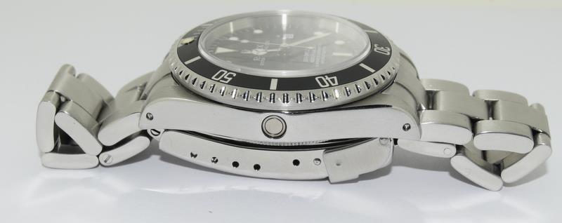 Rolex Sea Dweller gents wristwatch. Model No. 16600. Approx 1998 U39****. Very good condition. - Image 5 of 10