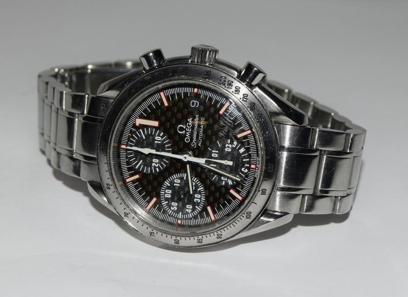 Omega Limited Edition Michael Schumacher watch with box and papers. Number 6977 of 11111. - Image 7 of 9