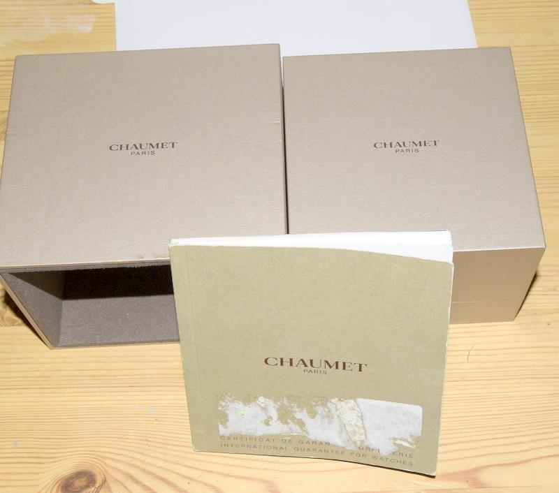 Chaumet Class One mid size Automatic wristwatch - Ref W17282-38C with inner box and some papers. - Image 8 of 8