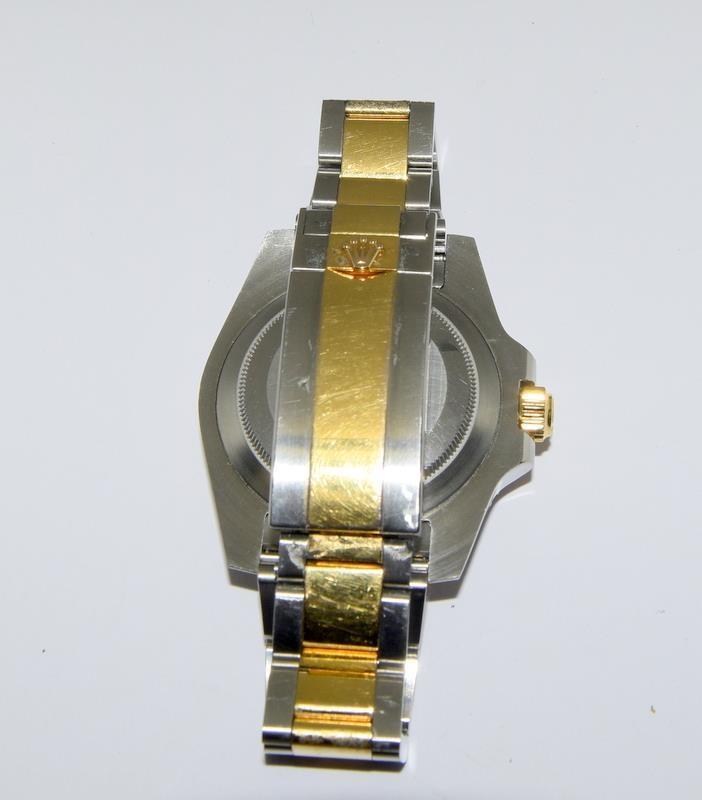 Rolex Submariner Blue Bi Metal 18ct Gold on Stainless Steel ceramic bezel gents wristwatch. No - Image 6 of 9