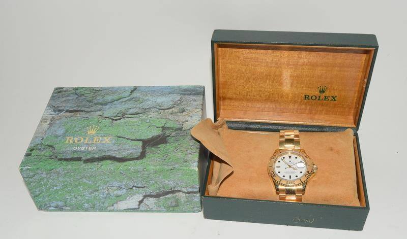 Rolex 18ct Gold Yachtmaster Wristwatch in original box. - Image 8 of 8