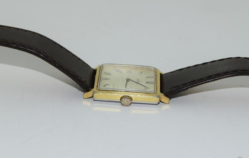 Omega Gold front gents manual wind wrist watch. - Image 3 of 8