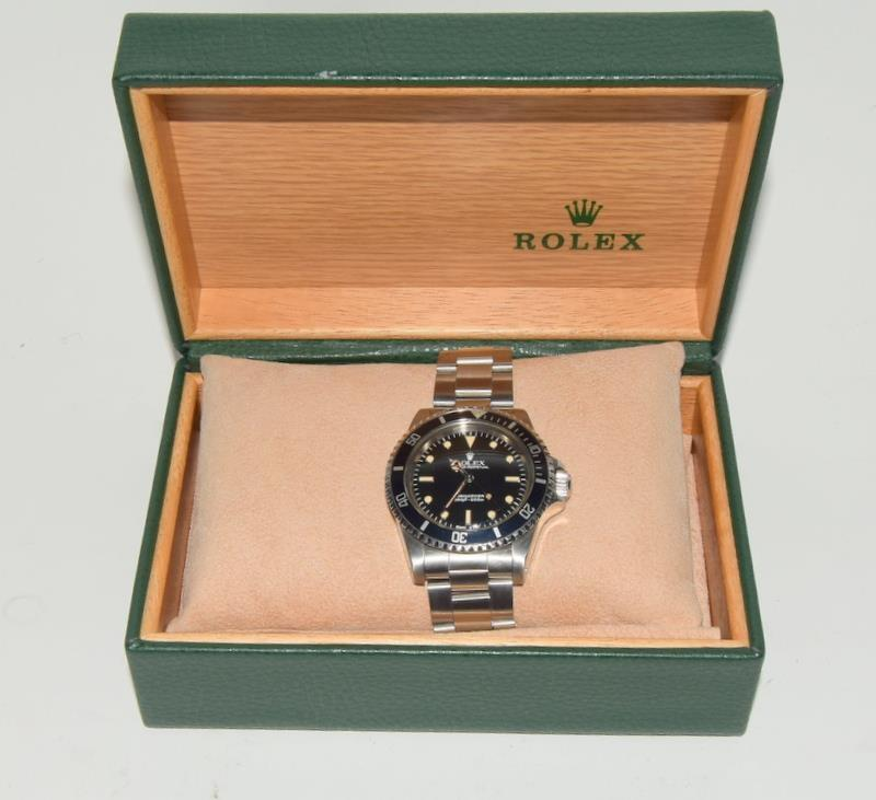 Rolex Submariner Spider Dial wristwatch. Model No.5513, boxed. - Image 7 of 8