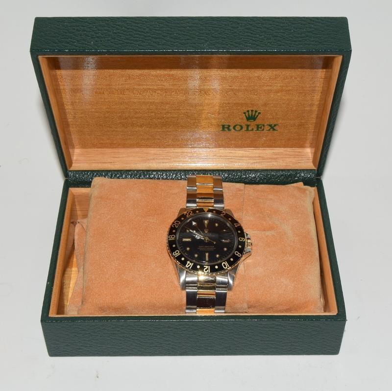 Rolex Bi Metal GMT Master Wristwatch, Dial. Serial No.8781026. - Image 2 of 16