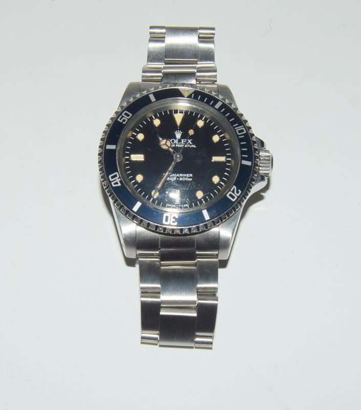 Rolex Submariner Spider Dial wristwatch. Model No.5513, boxed. - Image 6 of 8