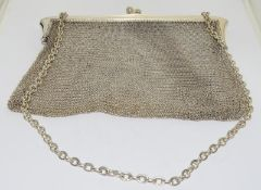 Silver Hallmarked 1902 Heavy Silver Purse. 208g. Full British Hallmark