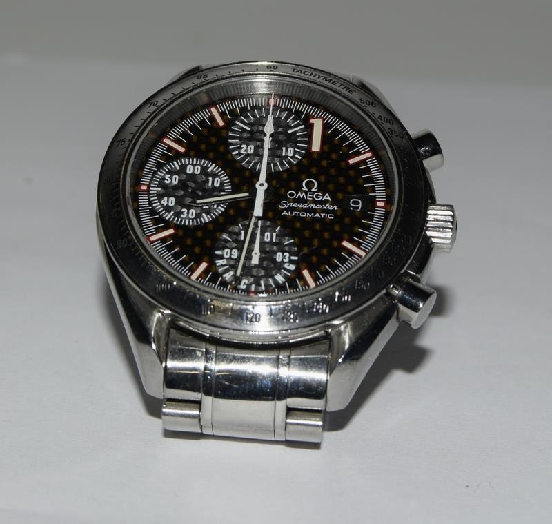 Omega Limited Edition Michael Schumacher watch with box and papers. Number 6977 of 11111. - Image 3 of 9