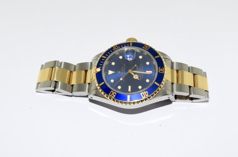 Rolex Submariner Bi Metal wristwatch. Model.no 16613 approximate year 1994 or 5588### end link no - Image 9 of 9