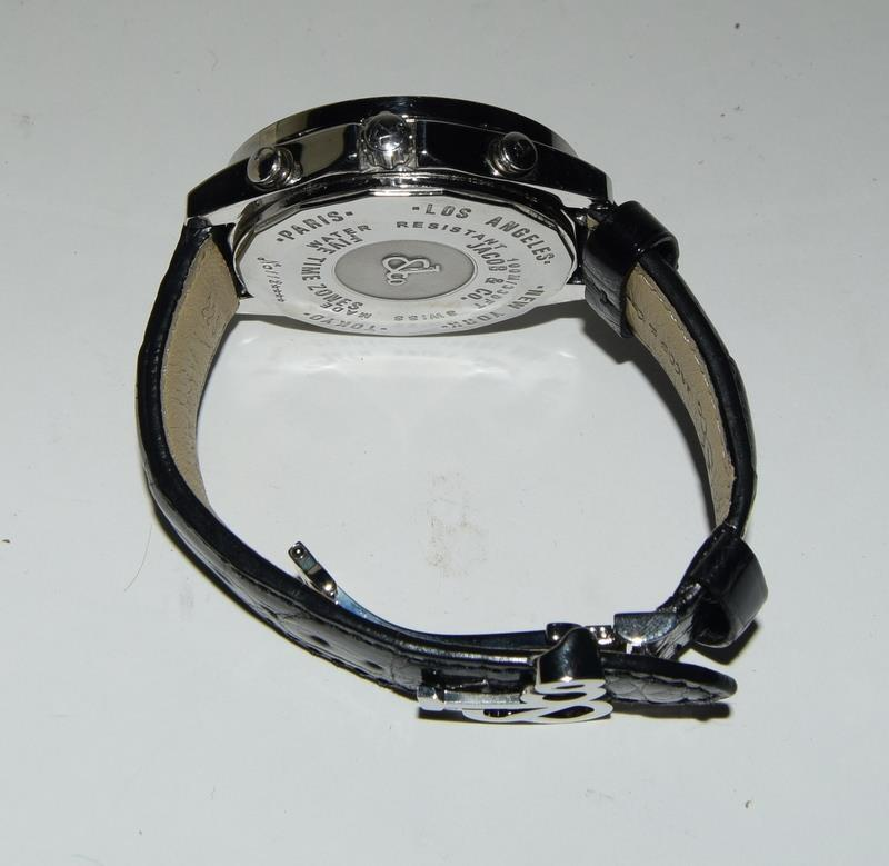 Jacob & Co Stainless Steel Gents World Time Wristwatch, boxed. - Image 3 of 7