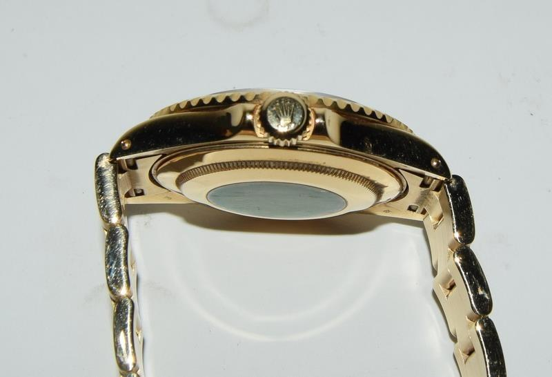 Rolex 18ct Gold Yachtmaster Wristwatch in original box. - Image 4 of 8