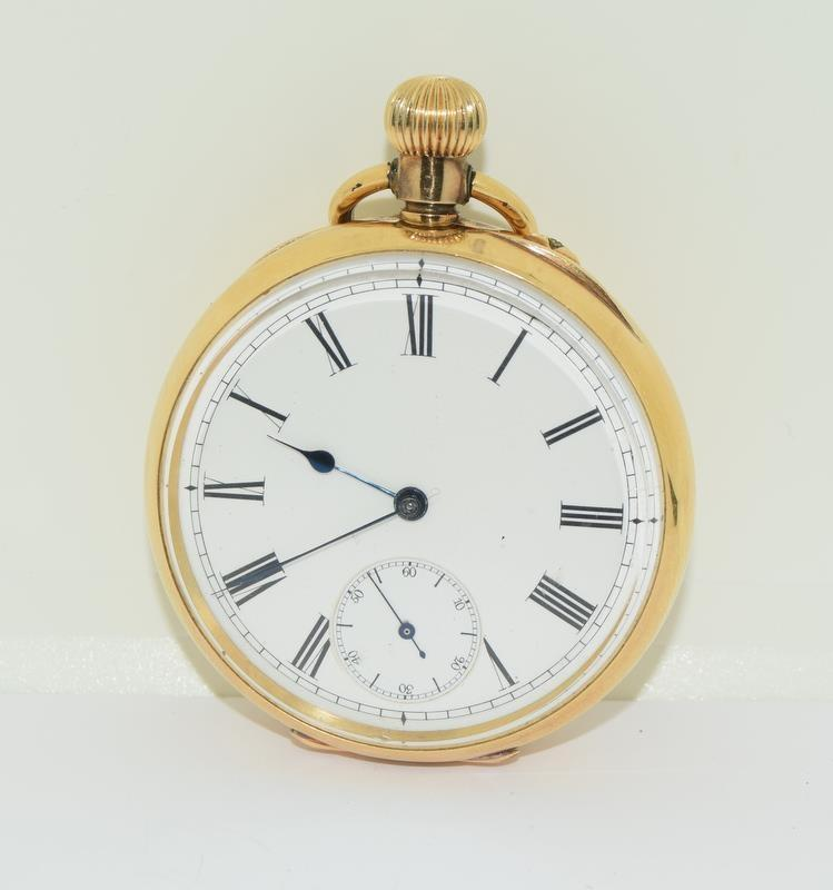 18ct Gold Full Face Pocket Watch. - Image 12 of 20