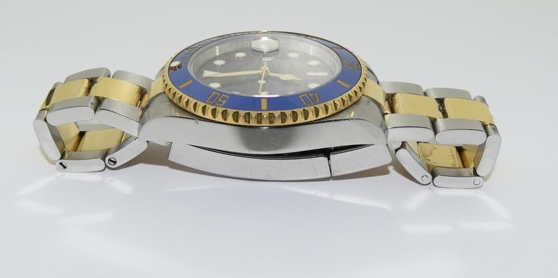Rolex Submariner Blue Bi Metal 18ct Gold on Stainless Steel ceramic bezel gents wristwatch. No - Image 4 of 9