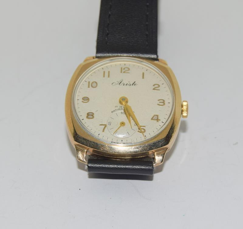 9ct Gold Atisto wrist watch of railway interest. - Image 7 of 8