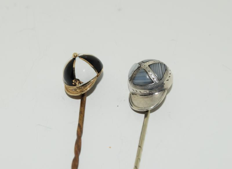 A collection of stickpins to include, 2 jockey caps. (NI007) - Image 2 of 4